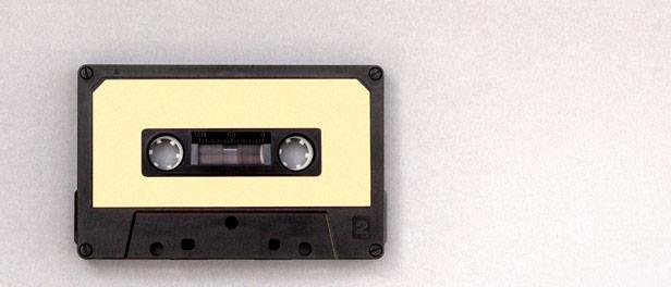 schwarz-gelbe Kassette