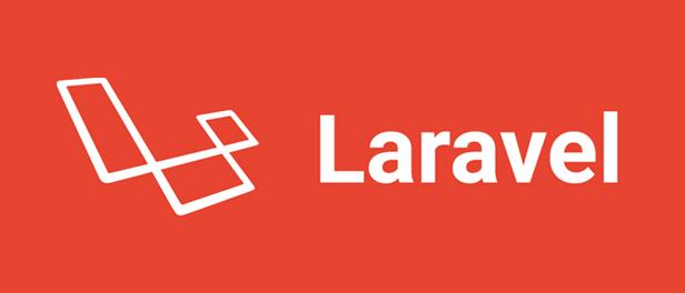 Logo von Laravel in weiß auf rotem Hintergrund