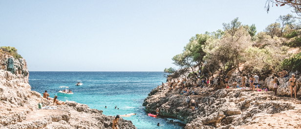 Ausblick am Strand Cala Varques